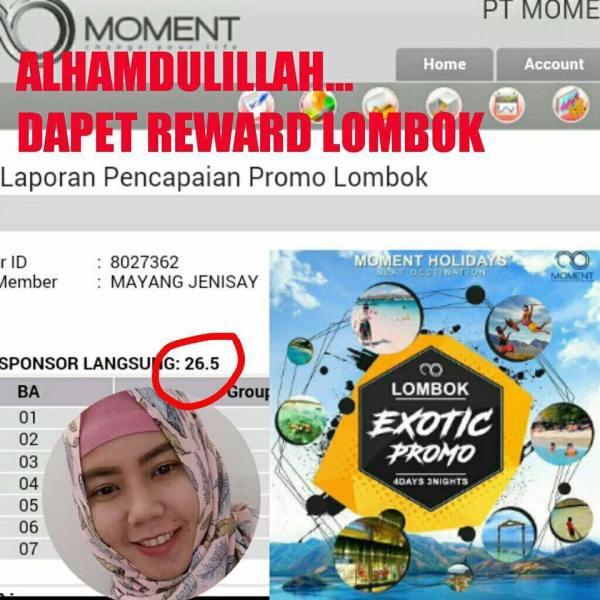 reward lombok